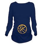Basketball Long Sleeve Maternity T-Shirt