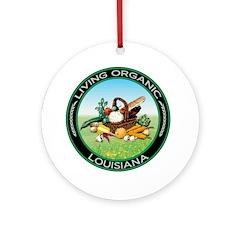 Living Organic Louisiana Ornament (Round)