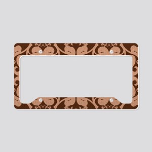 Modern Peach And Brown Patte License Plate Holder