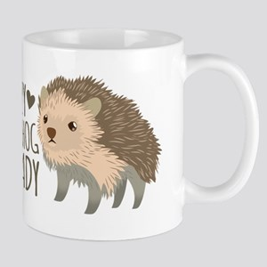 Crazy Hedgehog Lady Mugs