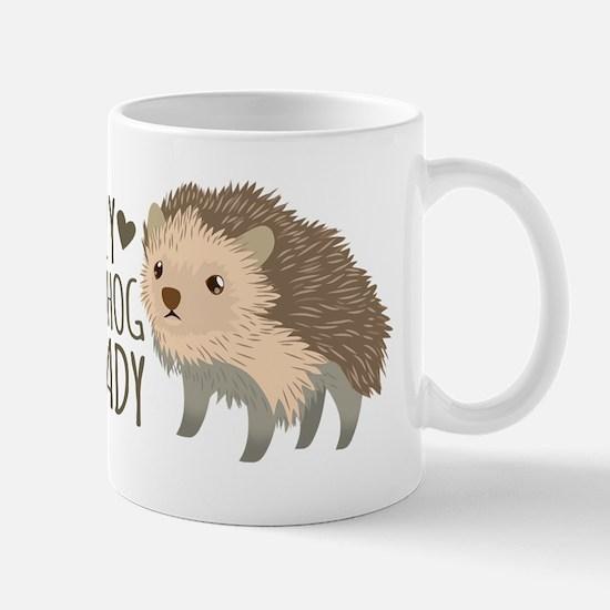 Crazy Hedgehog Lady Mugs