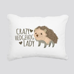 Crazy Hedgehog Lady Rectangular Canvas Pillow