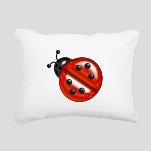 Cute Ladybug Rectangular Canvas Pillow