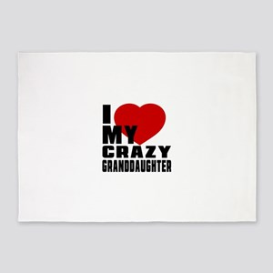 I Love GrandDaughter 5'x7'Area Rug