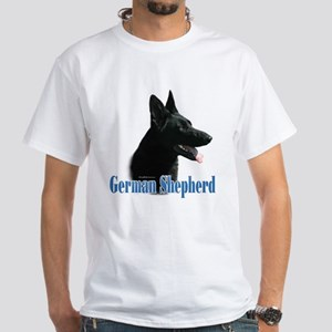 GSD(black) Name White T-Shirt