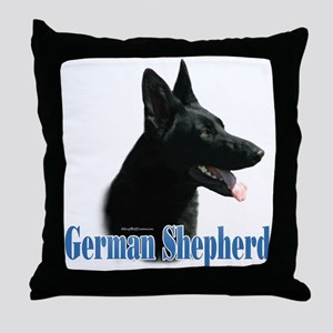 GSD(black) Name Throw Pillow
