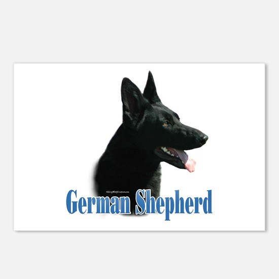 GSD(black) Name Postcards (Package of 8)