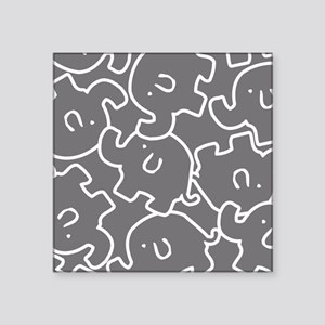 Cute Gray And White Elephants Sticker