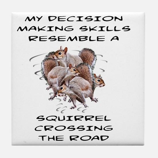 Cute Squirrels Tile Coaster