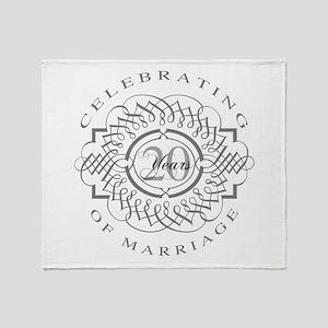 20th Wedding Anniversary Throw Blanket