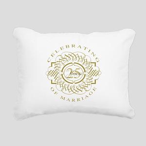 25th Wedding Anniversary Rectangular Canvas Pillow