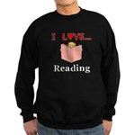 I Love Reading Sweatshirt (dark)