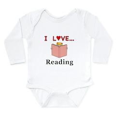 I Love Reading Long Sleeve Infant Bodysuit