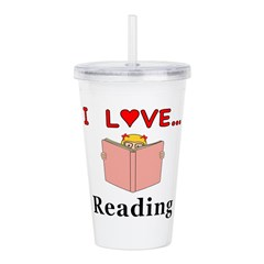 I Love Reading Acrylic Double-wall Tumbler