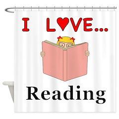 I Love Reading Shower Curtain