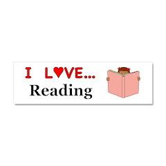 I Love Reading Car Magnet 10 x 3