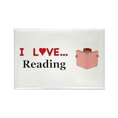 I Love Reading Rectangle Magnet (10 pack)