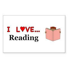 I Love Reading Sticker (Rectangle 10 pk)