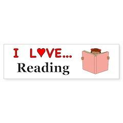 I Love Reading Sticker (Bumper)
