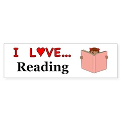 I Love Reading Sticker (Bumper)