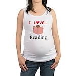 I Love Reading Maternity Tank Top