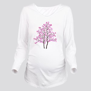 pink_tree Long Sleeve Maternity T-Shirt