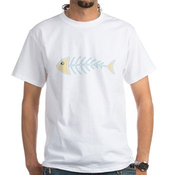 Herring Bones White T-Shirt