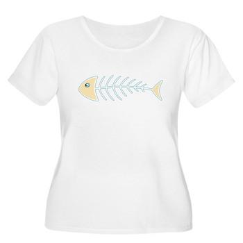 Herring Bones Women's Plus Size Scoop Neck T-Shirt