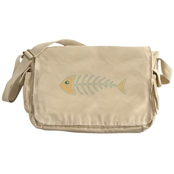Herring Bones Canvas Messenger Bag
