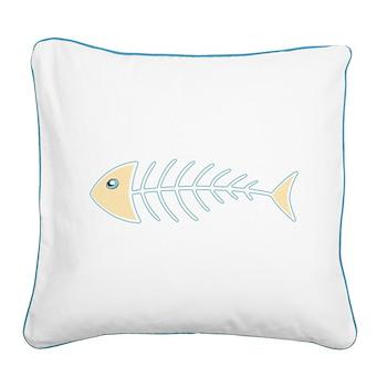 Herring Bones Square Canvas Pillow