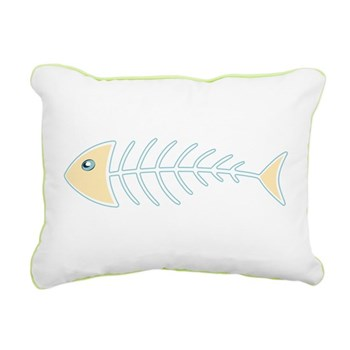 Herring Bones Rectangular Canvas Pillow