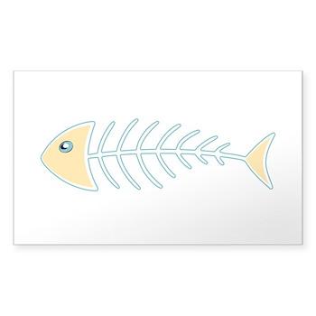 Herring Bones Rectangle Sticker (50 pack)