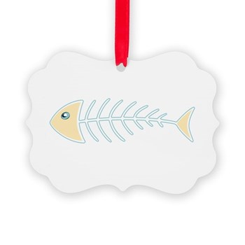 Herring Bones Picture Ornament