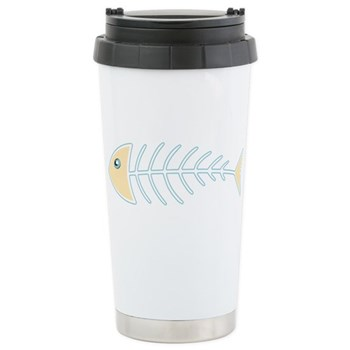 Herring Bones Ceramic Travel Mug