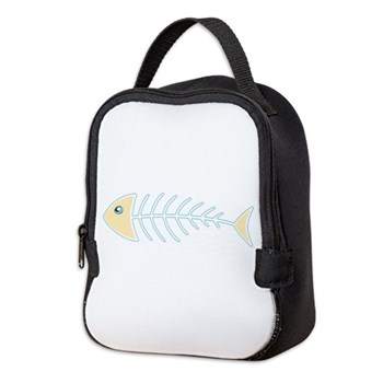 Herring Bones Neoprene Lunch Bag