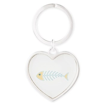 Herring Bones Heart Keychain