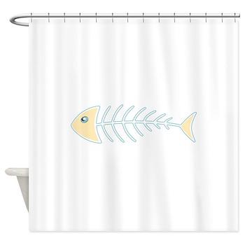 Herring Bones Shower Curtain