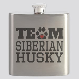 Team Siberian Husky Flask