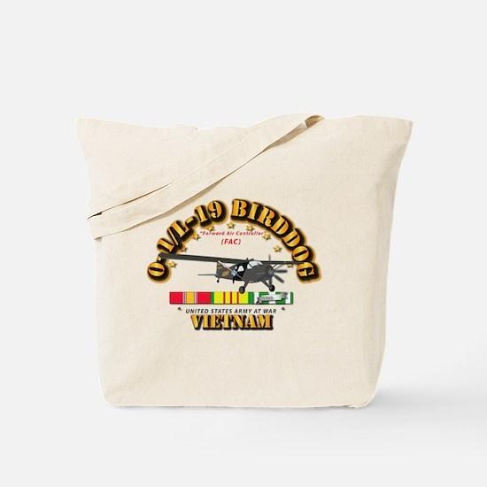 L19 Bird Dog w VN Svc Ribbons Tote Bag