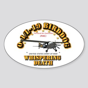 L19 Bird Dog - Whispering Death Sticker (Oval)