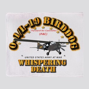 L19 Bird Dog - Whispering Death Throw Blanket
