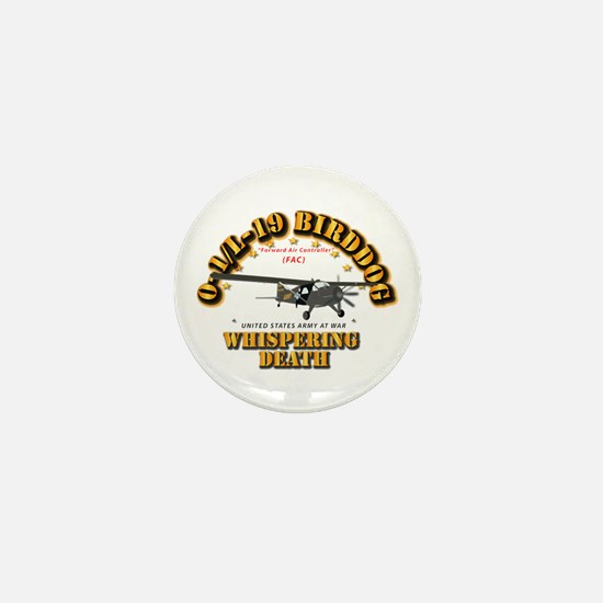 L19 Bird Dog - Whispering Death Mini Button