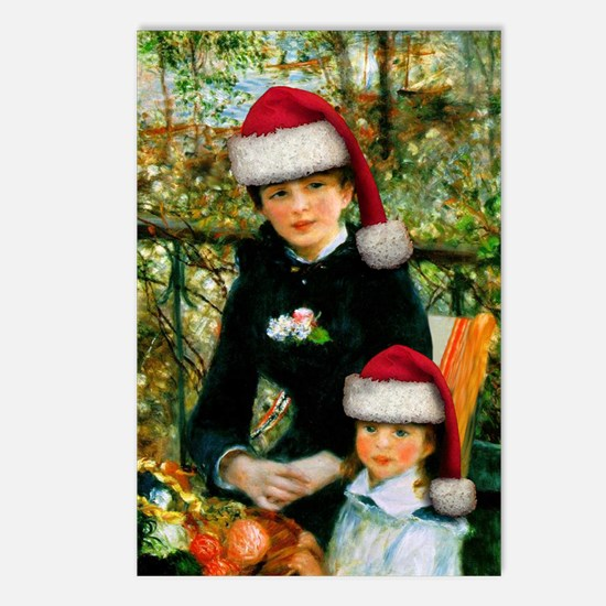 Renoir Santas Postcards (Package of 8)