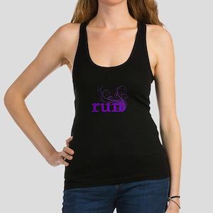 run_swirl_purple Racerback Tank Top