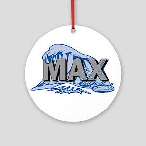 Max Wave Logo Round Ornament