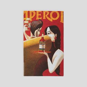 Aperol Vintage Beverage Poster Area Rug