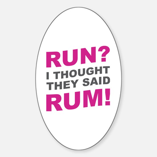 Unique Run for beer Sticker (Oval)