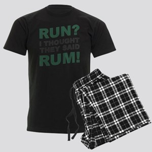 Run? I thought they said Rum! Men's Dark Pajamas
