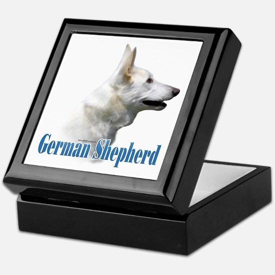 GSD(white)Name Keepsake Box