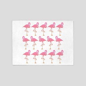 Flamingo Flock 5'x7'Area Rug
